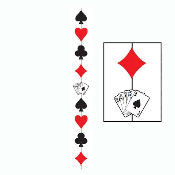 Card Suit Hanging Stringer - 6.5 Ft / 198cm