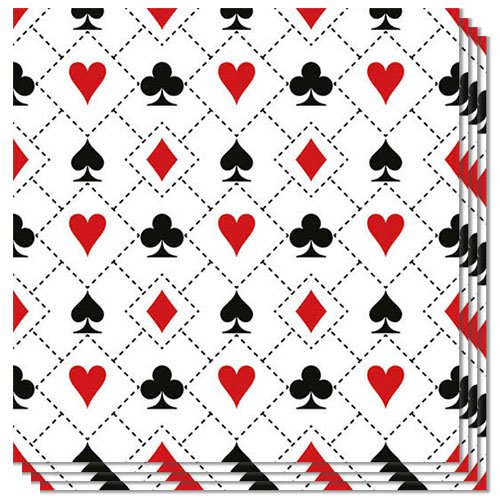 Cards Luncheon Napkins 3Ply 33cm - Pack of 20