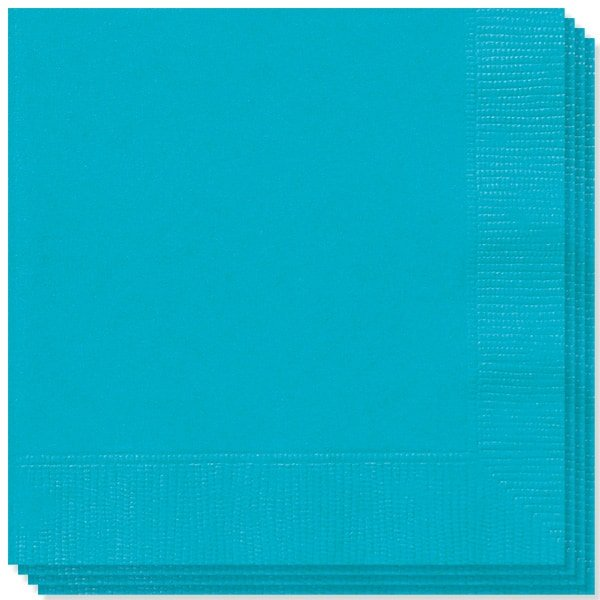 Caribbean Teal 2 Ply Napkins - 13 Inches / 33cm - Pack of 100 Product Image