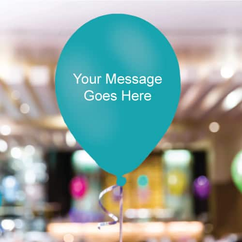 Caribbean-Teal Personalised 11 Inch Latex - 35 Balloons
