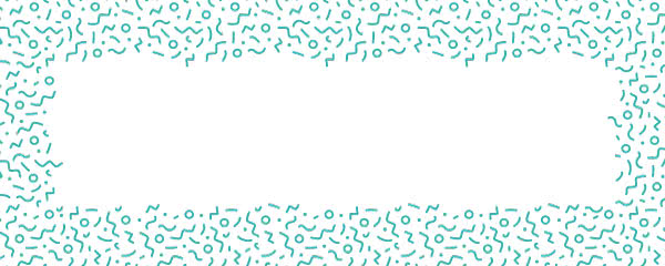 Caribbean Teal Squiggle Design Small Personalised Banner - 4ft x 2ft