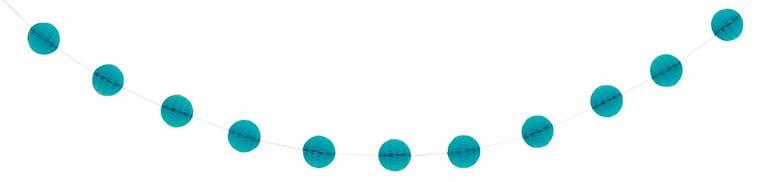Caribbean Teal Honeycomb Ball Garland – 213cm Product Image