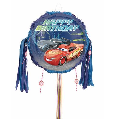 Cars 3 Happy Birthday Pull String Pinata