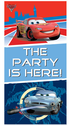 Cars The Party Is Here Door Cover 165cm
