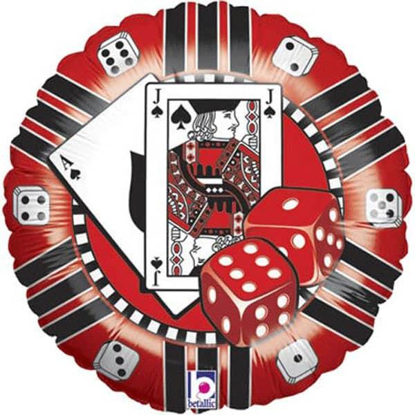Casino Chip Foil Helium Balloon 46cm / 18Inch