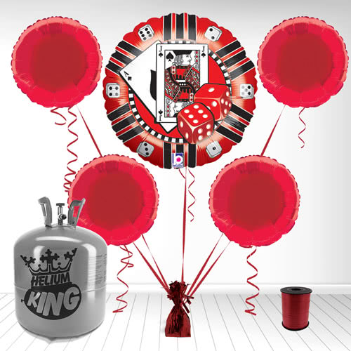 Casino Chip Foil Balloon and Helium Gas Package Product Image