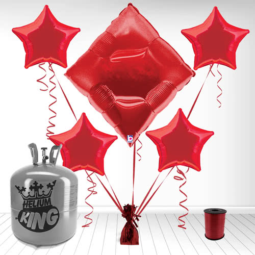 Casino Diamond Supershape Foil Balloon and Helium Gas Package Product Image