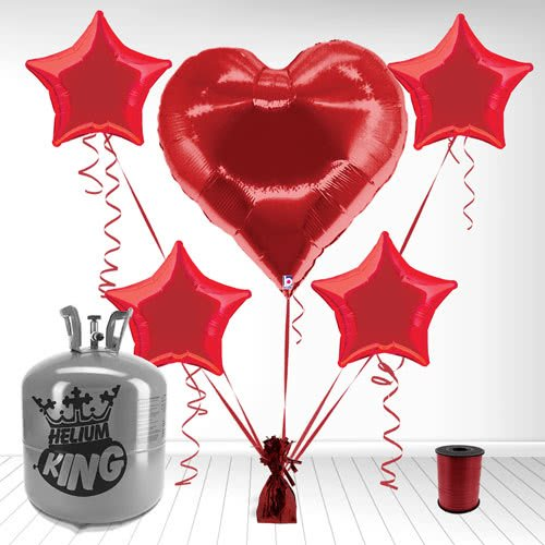 Casino Hearts Supershape Foil Balloon and Helium Gas Package Product Image
