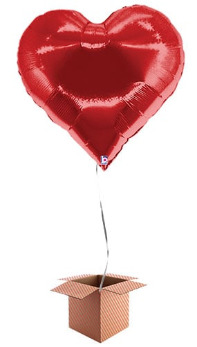 Casino Hearts Helium Foil Giant Balloon - Inflated Balloon in a Box
