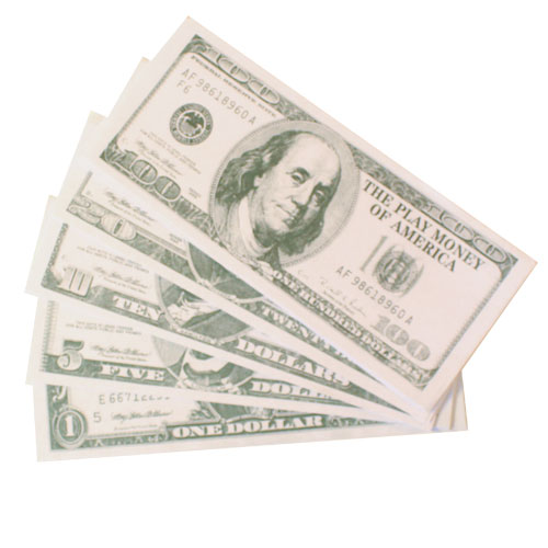 Casino Play Money Paper Bills Favours - Pack of 100