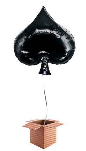 Casino Spade Helium Foil Giant Balloon - Inflated Balloon in a Box Product Image
