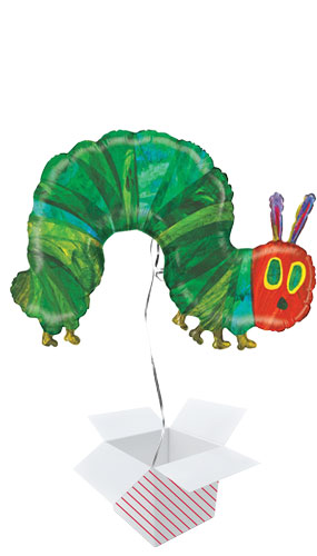 Caterpillar Helium Foil Giant Balloon - Inflated Balloon in a Box Product Image