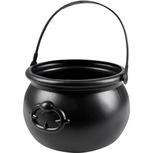 Cauldron Black Magic Halloween Trick Or Treat Bucket 18cm