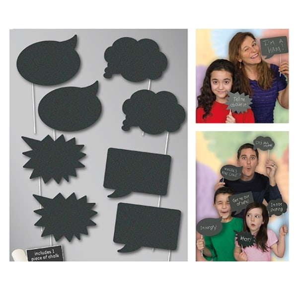Chalk Board Photo Prop Accessories - Pack of 8