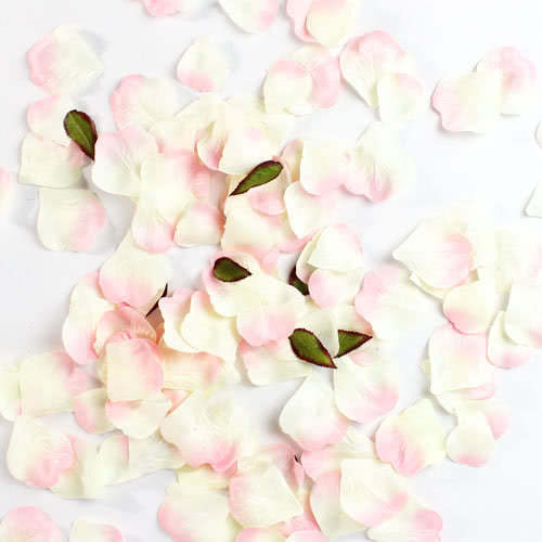 Champagne and Pink Fabric Rose Petals Product Image