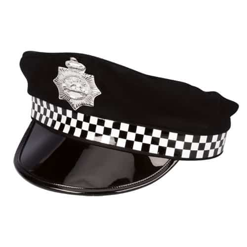Check Band Police Cap