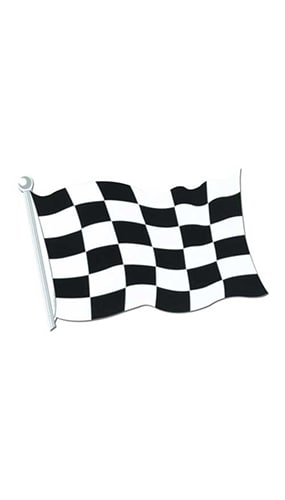 Checkered Flag Decorative Cutout - 18 Inches / 46cm Product Image