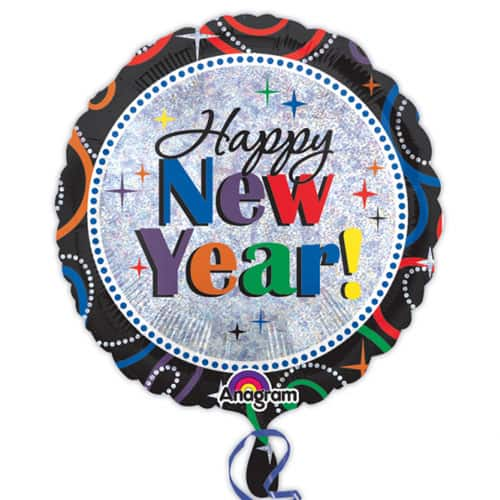Cheers To A New Year Round Foil Helium Balloon 46cm / 18Inch Product Image