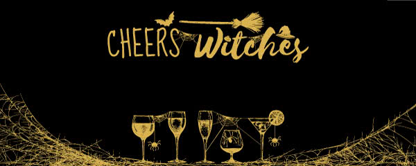 Cheers Witches Halloween Design Medium Personalised Banner - 6ft x 2.25ft