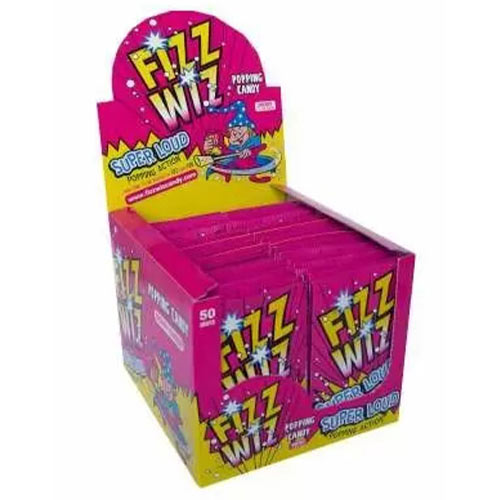 Cherry Flavour Fizz Wiz Sweet Popping Candy - Pack of 50         Product Image