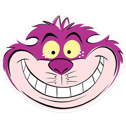 Cheshire Cat Disney Alice in Wonderland Cardboard Face Mask Product Image