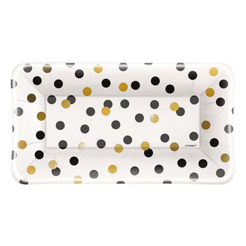 Chic Party Rectangular Appetizer Plate 23cm - Pack of 8
