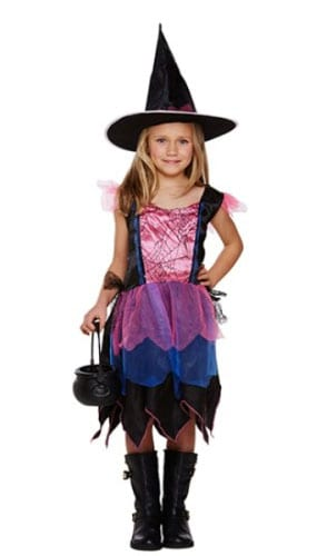 Firework Witch Costume 7-9 Years Halloween Children Fancy Dress Product Image