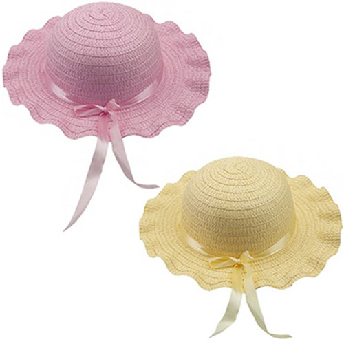Children Assorted Easter Bonnet With Ribbon