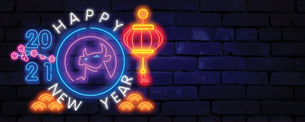 Chinese New Year 2021 Neon Design Small Personalised Banner – 4ft x 2ft