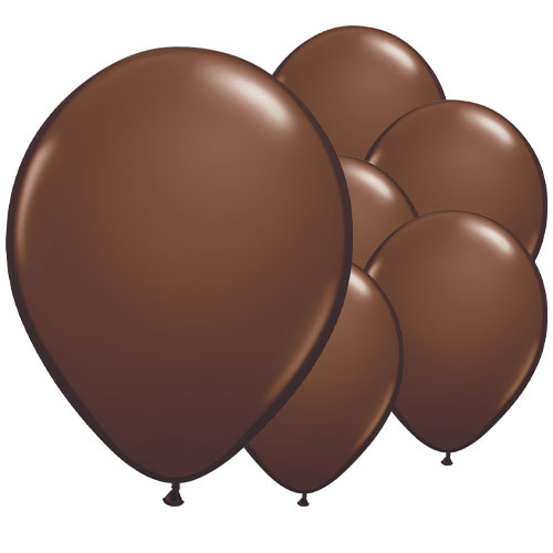 Chocolate Brown Round Latex Qualatex Balloons 28cm / 11 in - Pack of 100