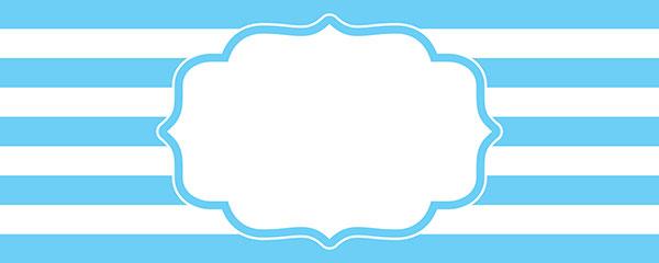Christening Blue Design Medium Personalised Banner – 6ft x 2.25ft