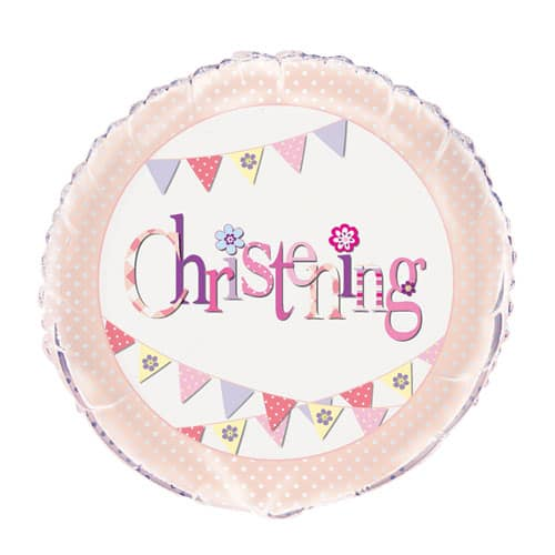 Christening Pink Foil Helium Balloon 46cm / 18Inch Product Image
