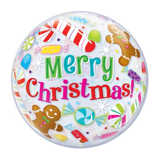 Christmas Candies And Treats Bubble Helium Qualatex Balloon 56cm / 22 in Product Image