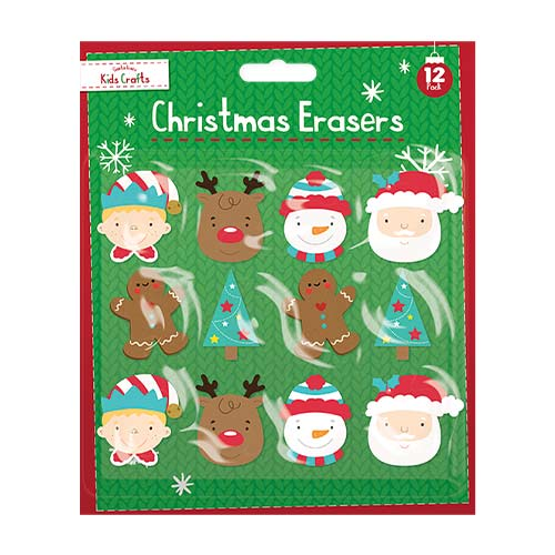 Christmas Character Erasers - Pack of 12 Product Image