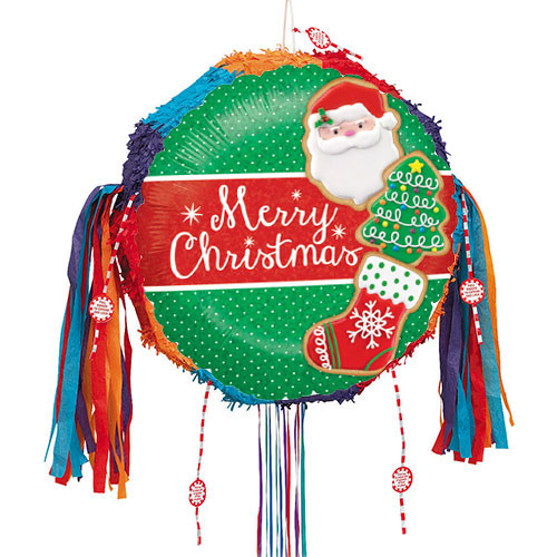 Christmas Cookies Holographic Pull String Pinata