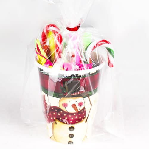 Christmas Cozy Snowman Candy Cup