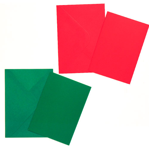 Christmas Craft Cards With Envelopes - Pack of 15