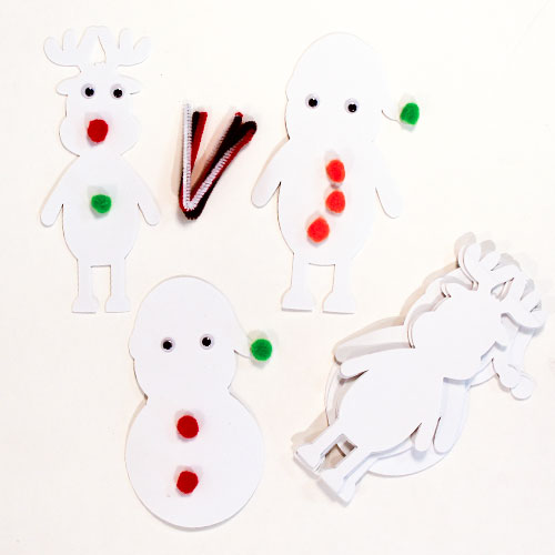 Christmas Craft Foam Characters - Pack of 9