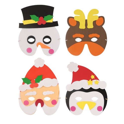 Assorted Christmas Characters Foam Mask Product Image