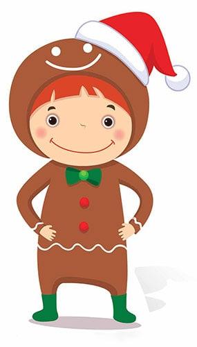 Christmas Gingerbread Boy Mini Cardboard Cutout - 83cm Product Image