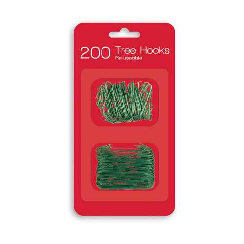 Christmas Green Bauble Hooks - Pack of 200 Product Image