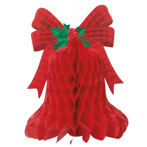 Christmas Hanging Bell Honeycomb Decoration 39cm Product Image
