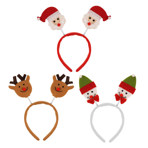 Assorted Christmas Head Boppers Headband Christmas Fancy Dress Product Image