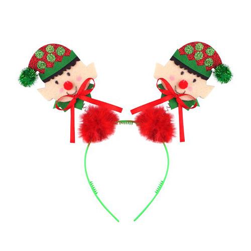 Christmas Head Bopper With Mini Elfs Headband Fancy Dress Product Image