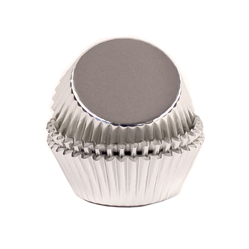 Christmas Metallic Silver Cupcake Cases Pack of 60