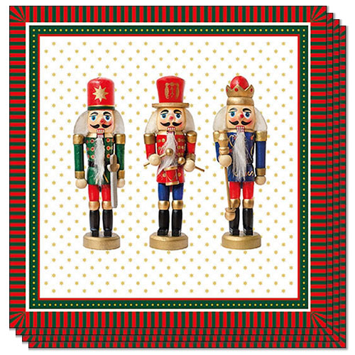 Christmas Nutcrackers Premium Luncheon Napkins 3Ply 33cm - Pack of 20
