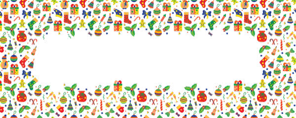 Christmas Ornaments Design Medium Personalised Banner - 6ft x 2.25ft