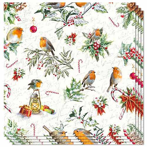 Christmas Ornaments Luncheon Napkins 3Ply 33cm - Pack of 50 Product Image