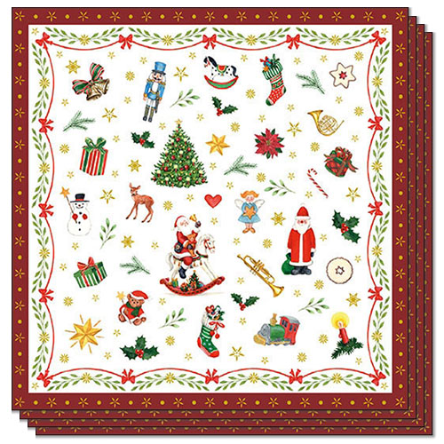 Christmas Ornaments Premium Luncheon Napkins 3Ply 33cm - Pack of 20
