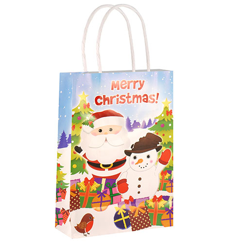 Christmas Paper Bag With Handles 21cm Product Image